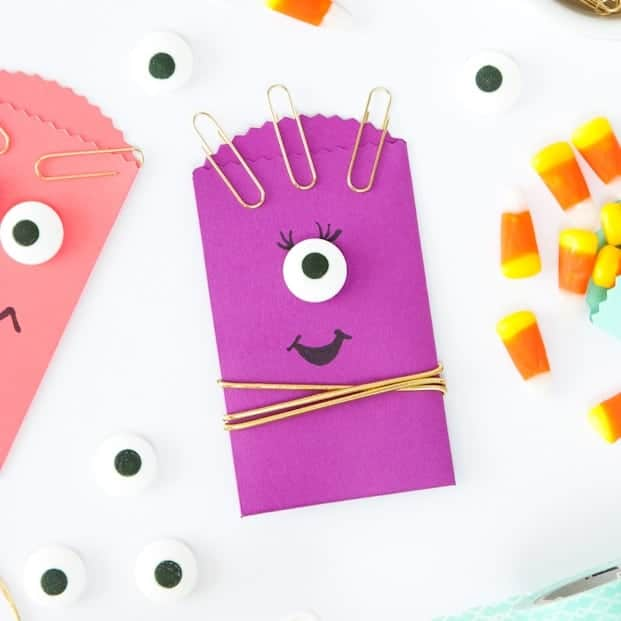 DIY Monster Halloween Treat Bags