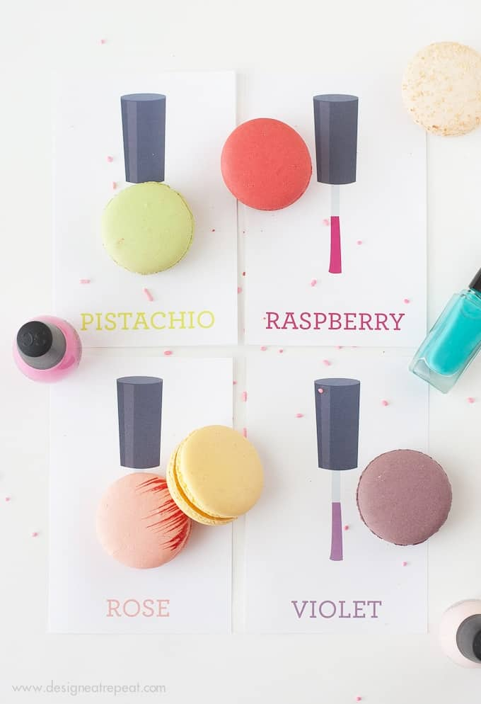 DIY Nail Polish Party + Free Printables from Design Eat Repeat Blog