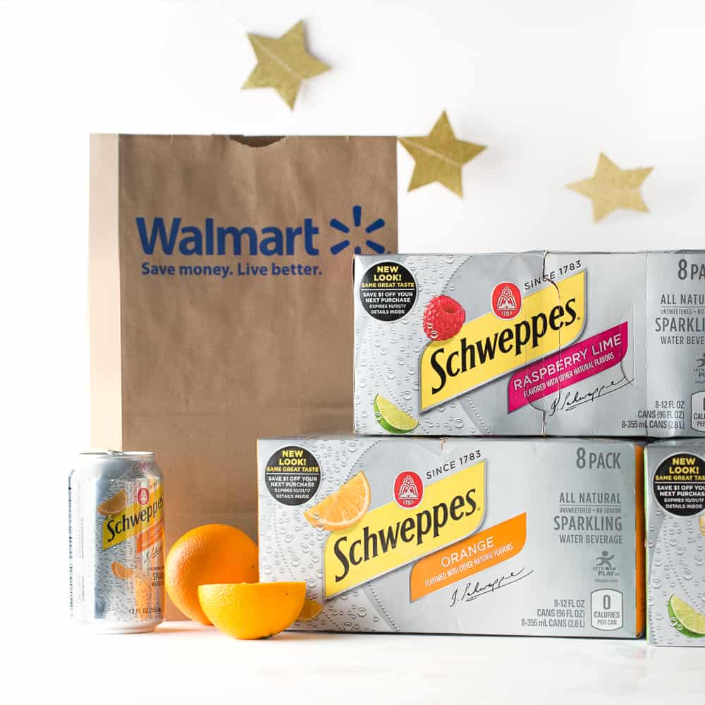 Schweppes Sparkling Water 8 packs at Walmart to create DIY punch bar