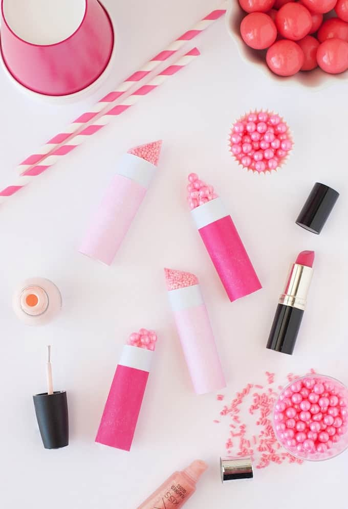 DIY Sprinkle Lipstick Party Favors | Design Eat Repeat