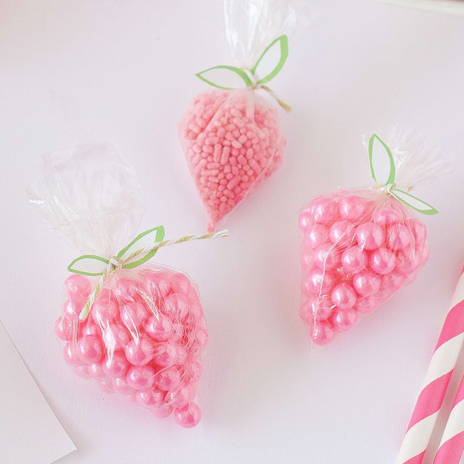 DIY Strawberry Sprinkle Party Favors