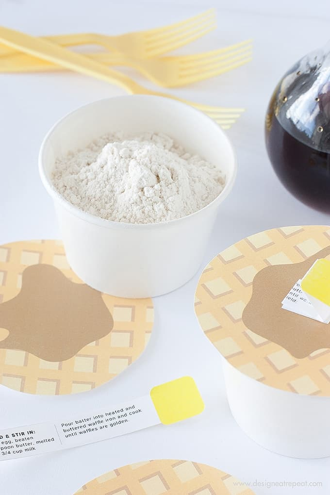 DIY Waffle Mix + Free Printable