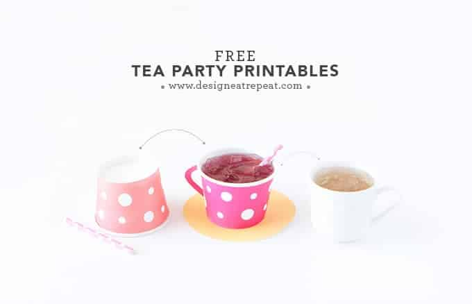 Download These Free Tea Party Printables Attach To A Paper Icecream Cup And You