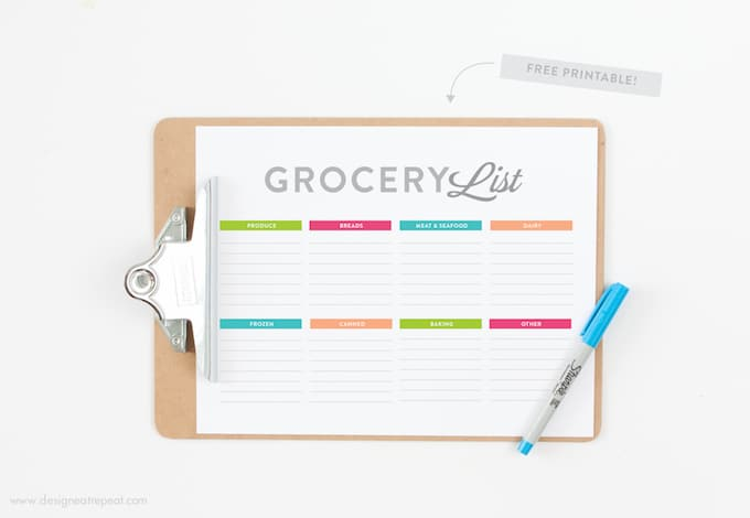 Download this free Grocery List printable and make your next shopping trip a breeze!