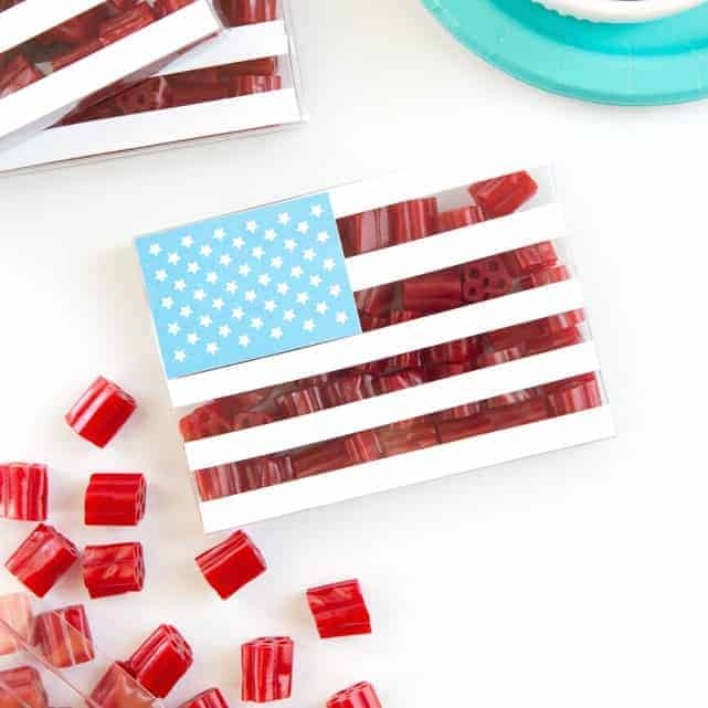 Fourth of July Party Favor Candy Boxes