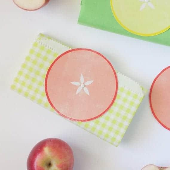 Fall Gift Bags Apple Printable