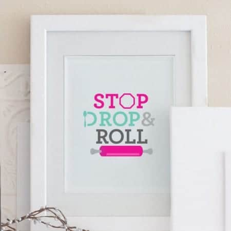 Free Baking Printable | Stop Drop & Roll by Design Eat Repeat
