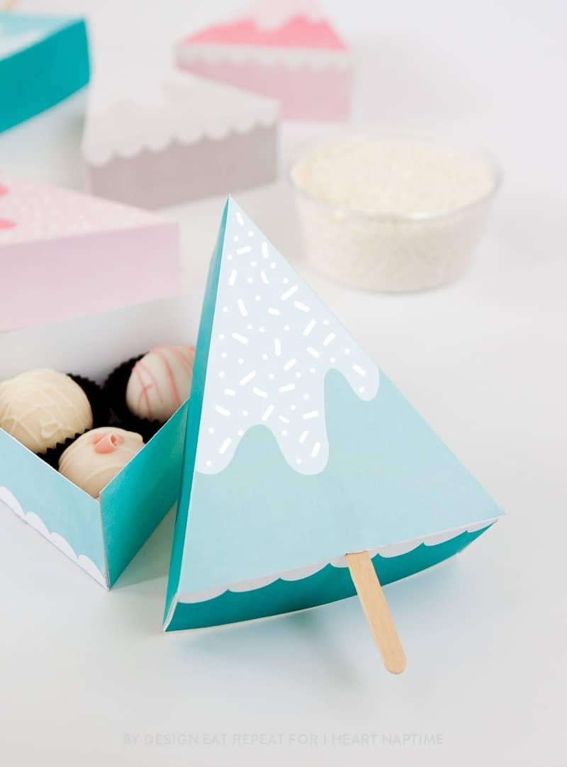 Free Christmas Tree Treat Box Printables