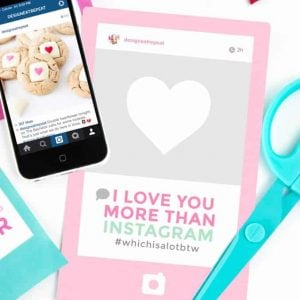Free Instagram Themed Printable Valentine's Day Cards!