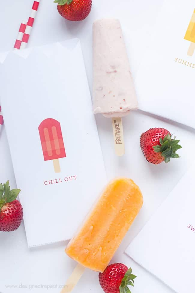 Free Popsicle Pouch Printables | Perfect for a fun Summertime Party!