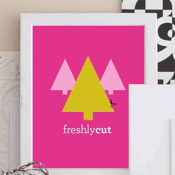 """Freshly Cut Tree"" Free Printable Christmas Art"