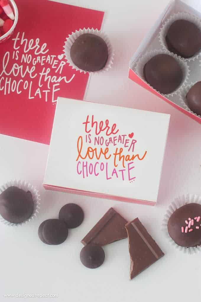 Free Printable DIY Chocolate Box | from Design Eat Repeat