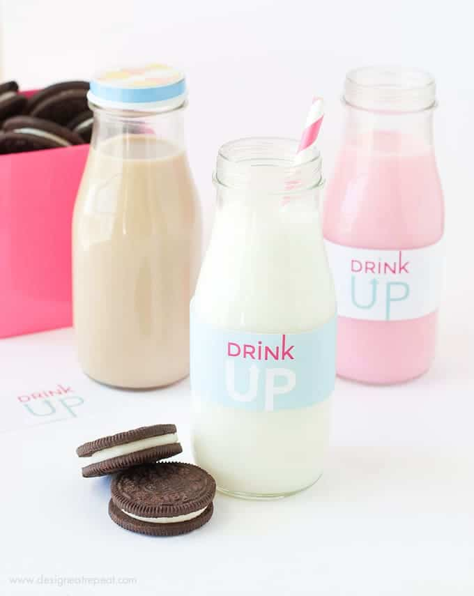 photo regarding Free Printable Labels for Bottles called Totally free Printable Milk Bottle Labels