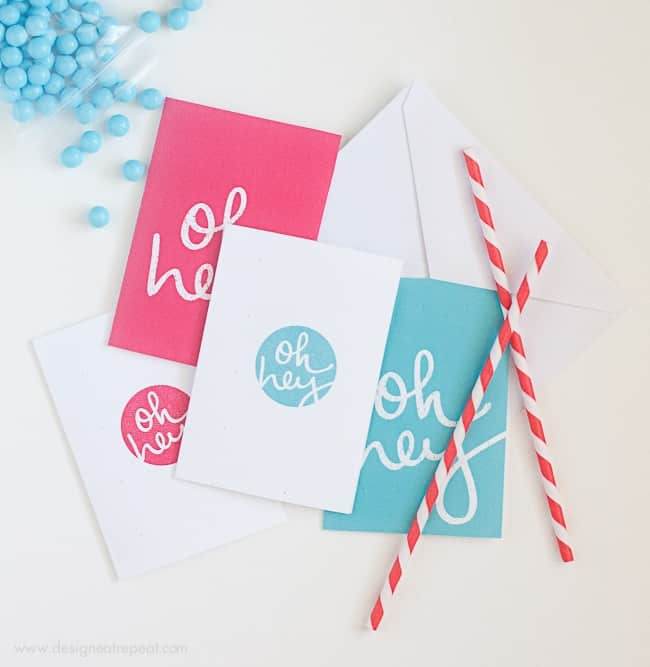 Free Printable Note Cards by Design Eat Repeat