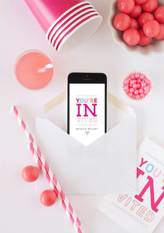 Free Printable Party Invite Cards by Design Eat Repeat