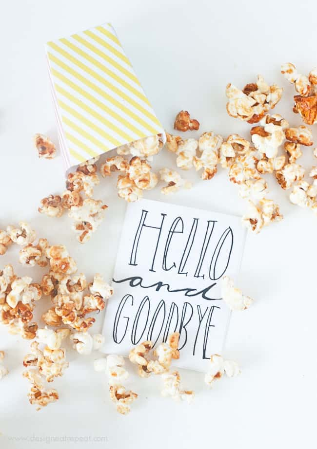 Free Printable Popcorn Boxes by Design Eat Repeat #printable #popcorn #stationery