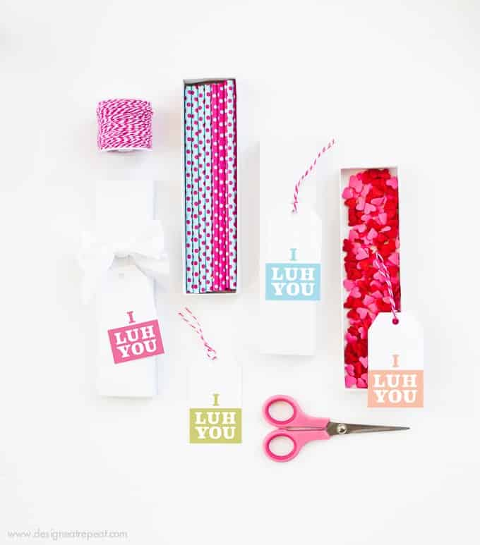 Free Printable Valentine's Day Gift Tags by Design Eat Repeat