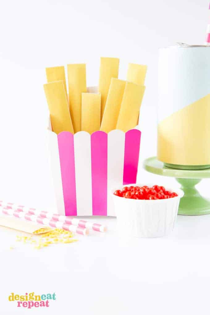 French Fry Sprinkle Party Favors