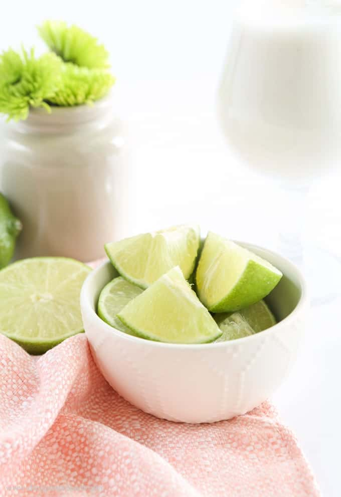 Frozen Vanilla Coconut Lime Refresher - single serving recipe!