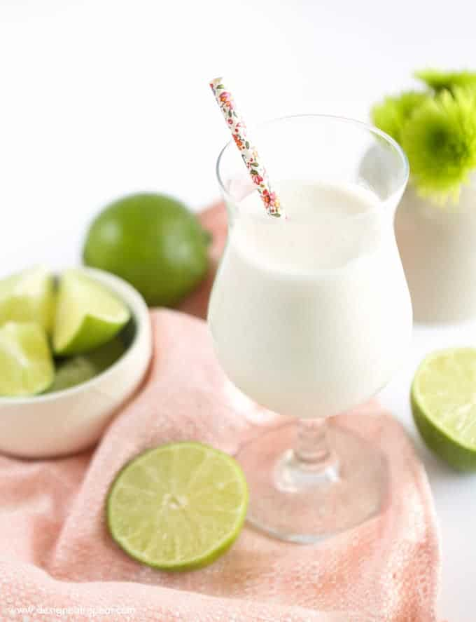 Frozen Vanilla Coconut Lime Refresher