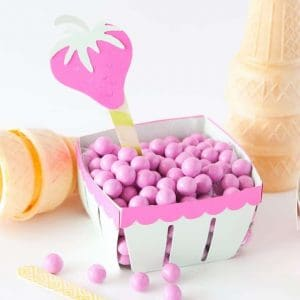 Fruit Ice Cream Party by Melissa at Design Eat Repeat Blog!