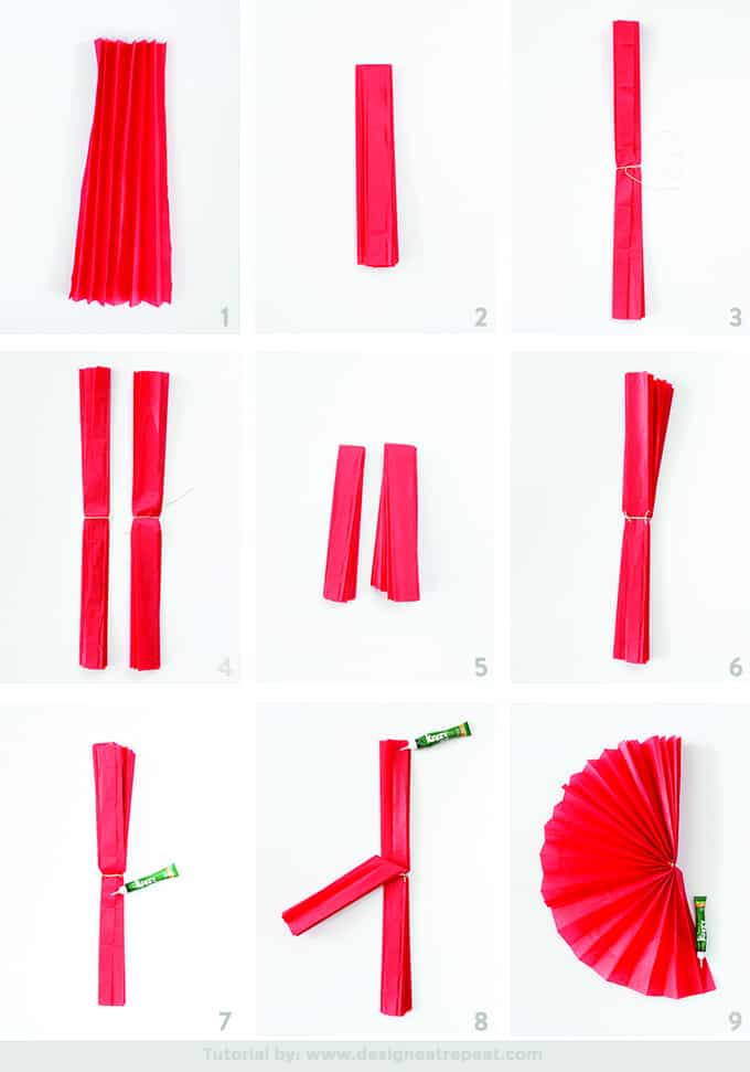 Great tutorial on how to make DIY Paper Flower Fans!