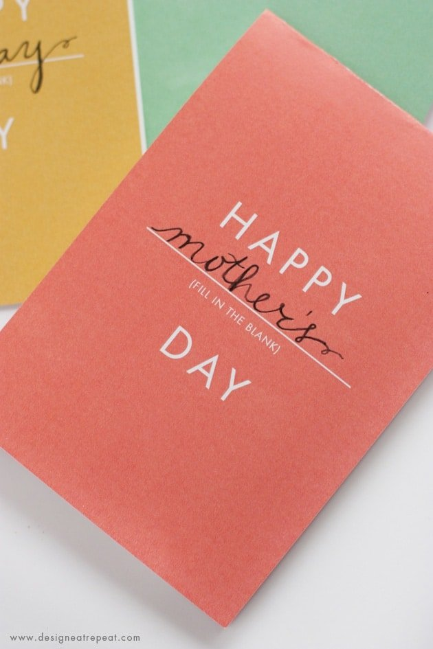 Happy Anything Card - Free Printables that can be used for Birthdays, Mothers Day, and more!