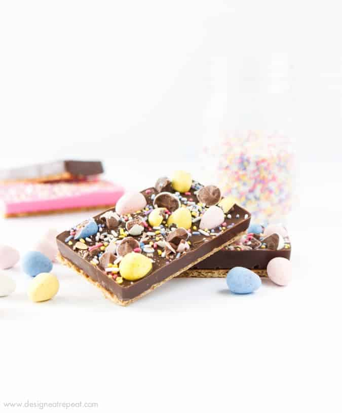 Homemade Easter Chocolate Candy Bars