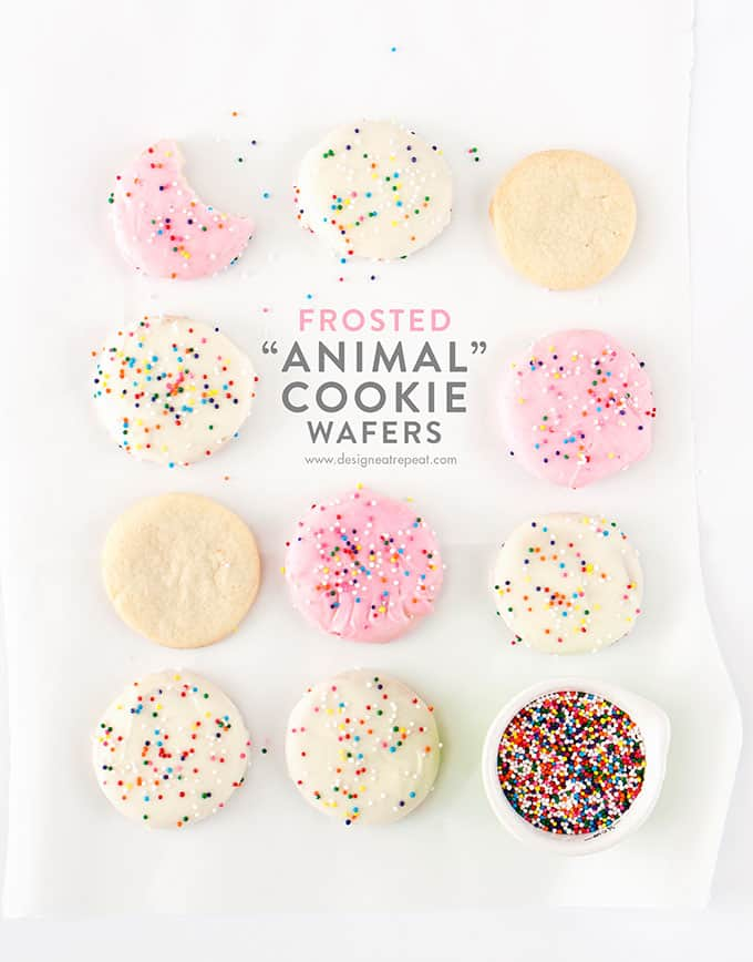 Homemade Frosted Animal Cookie Wafers - Design Eat Repeat