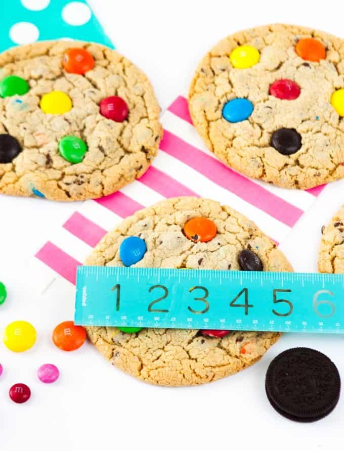 Homemade Mega Sized M&M Cookies