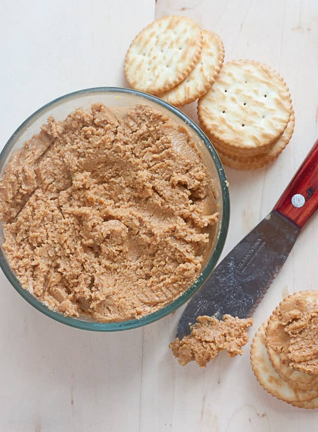 Homemade Peanut Butter made from wih Honey & Olive Oil