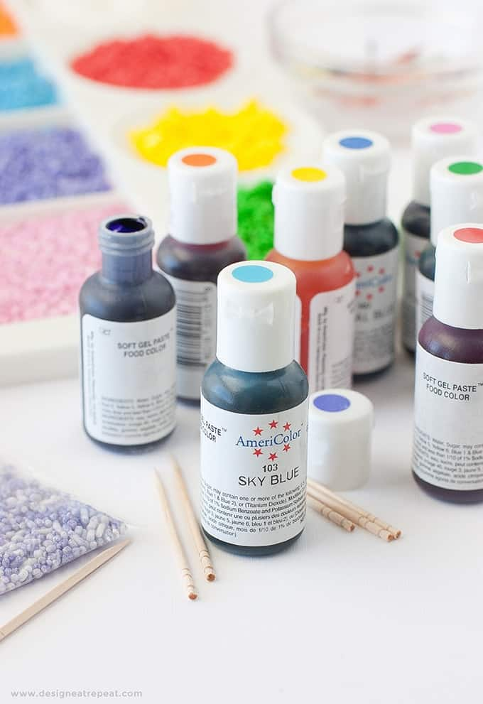 How to Dye Your Own Sprinkles - Perfect method for creating custom colors that you can't find in the stores!