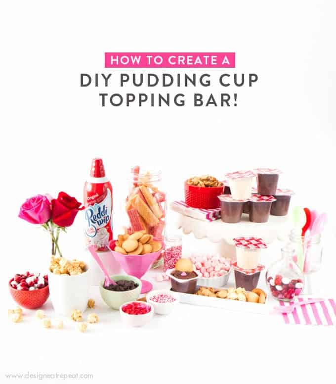 How to Make a DIY Pudding Cup Bar!
