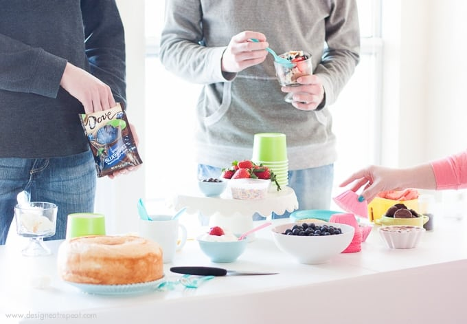 How to put together a light springtime Trifle Party by Design Eat Repeat!
