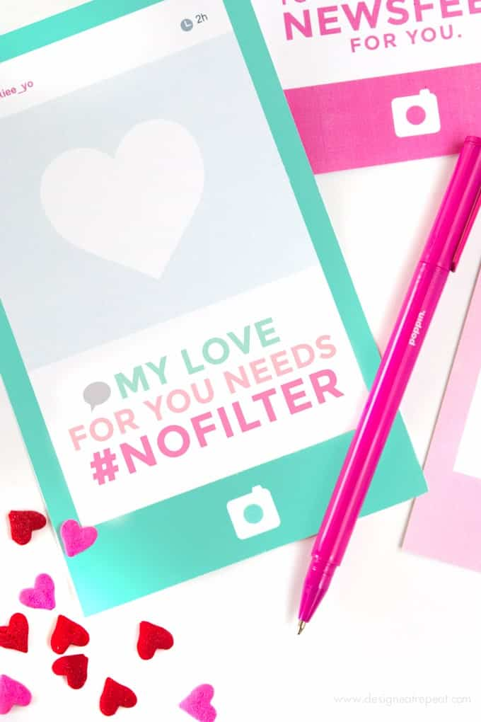 Instagram Free Printable Valentine's Day Cards