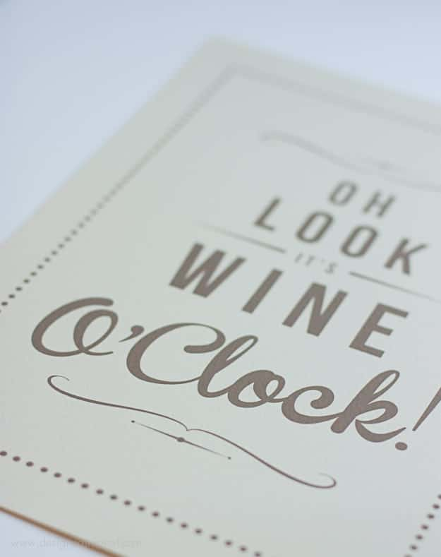 It's Wine O'Clock Wall Art