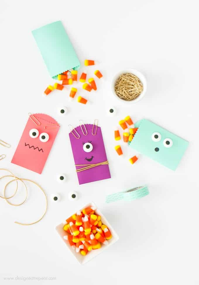 Learn how to make these DIY Monster Halloween Treat Bags over at Design Eat Repeat!
