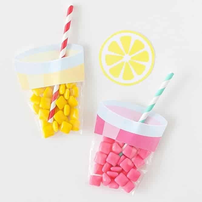 Printable Lemonade Party Favors