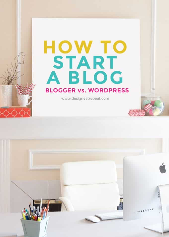 Learn how to start a blog & the differences between Blogger and WordPress!