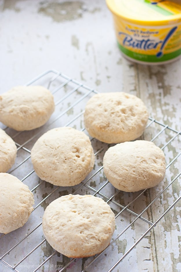 Light Homemade Biscuits - Use for Breakfast Sandwiches