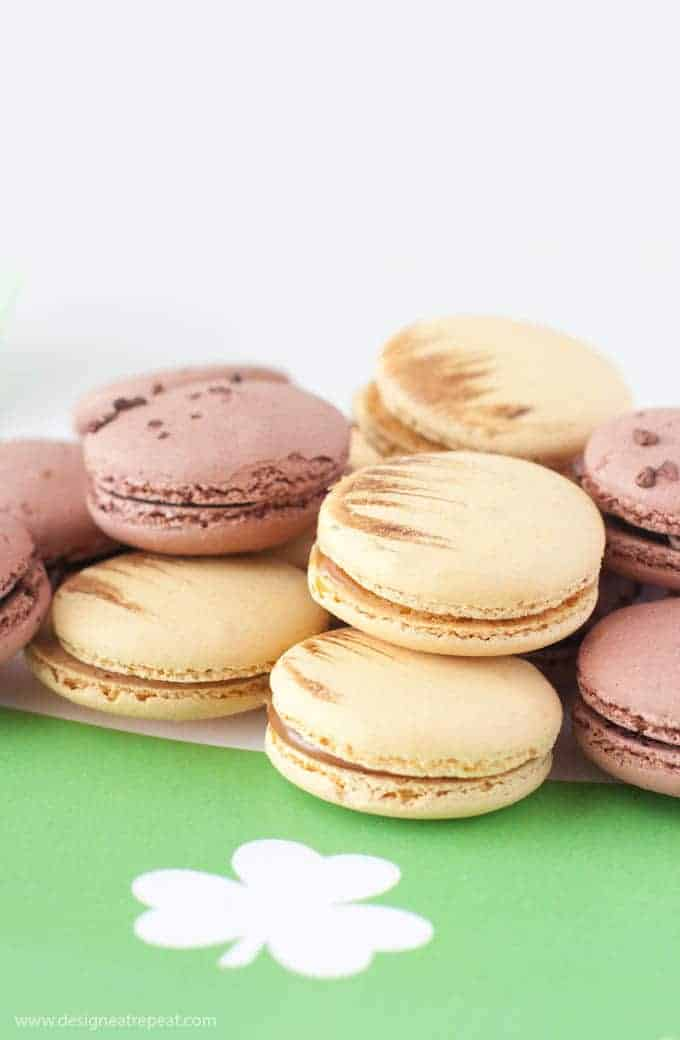 Love this! Place caramel macarons on this free printable pot of gold placemat for a easy & fun St. Patrick's Day presentation!