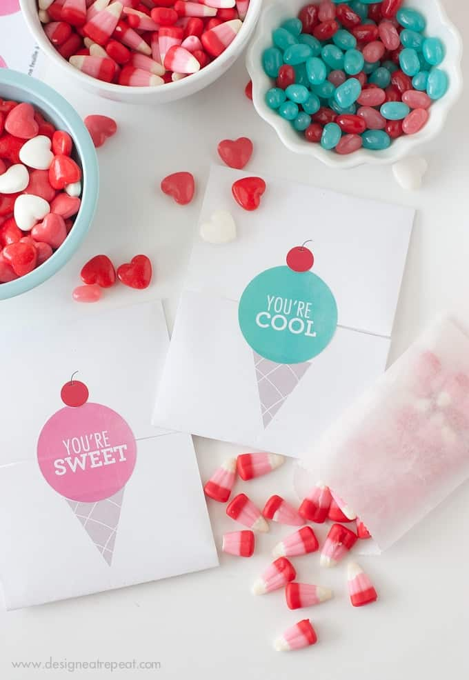 Make your own Valentines with these free printables from Design Eat Repeat blog