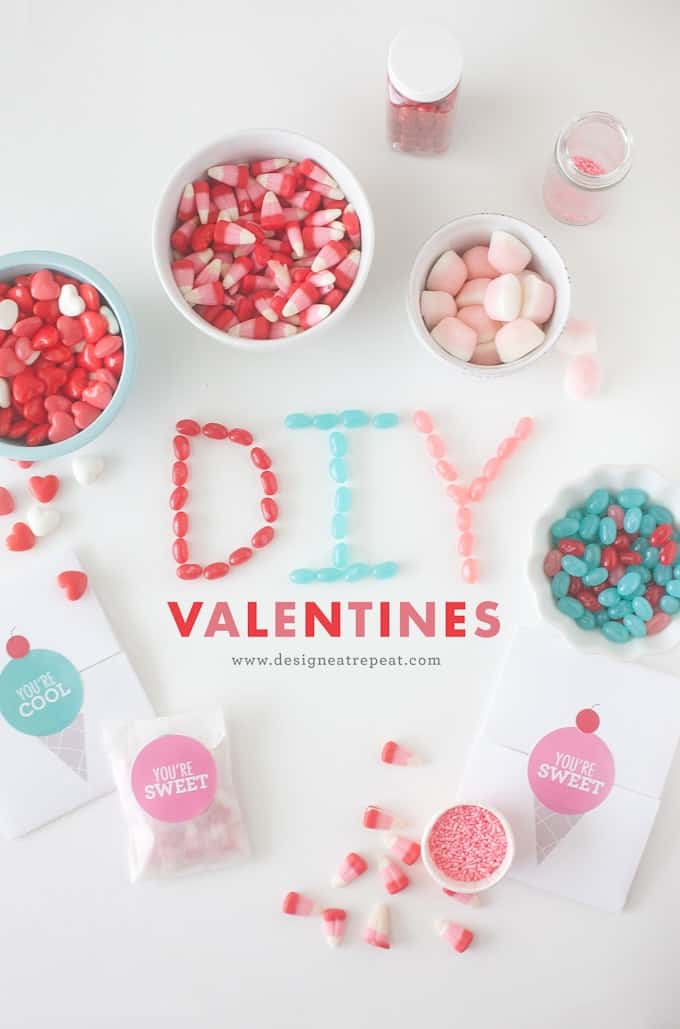 make your own valentines with these free printables from design eat repeat