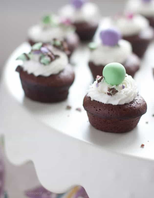 Melt in Your Mouth Mint Brownie Bites-2