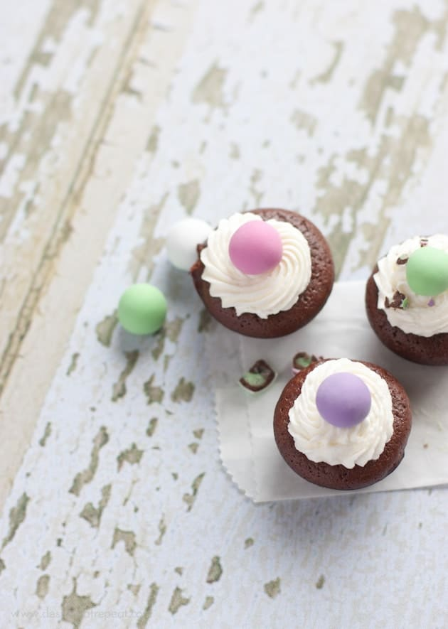 Melt in Your Mouth Mint Brownie Bites-8