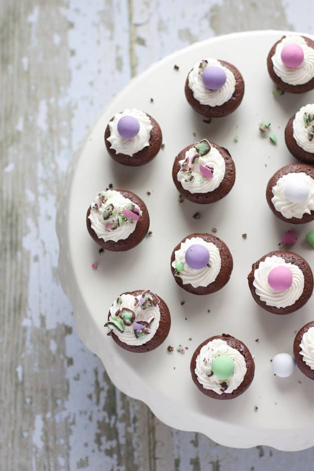Melt in Your Mouth Mint Brownie Bites