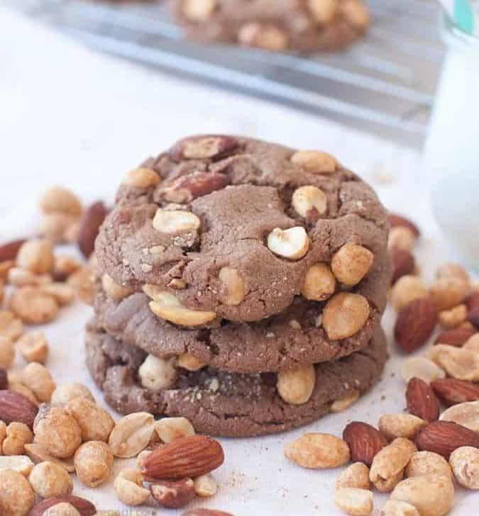 Milk Chocolate Peanut Butter & Almond Cookies