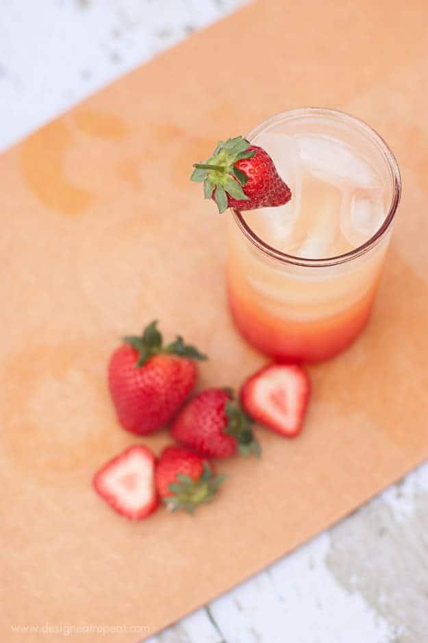 Non-Alchoholic Summer Spritzer | Orange Juice, Lemon-Lime Soda, and Grenadine | Design Eat Repeat