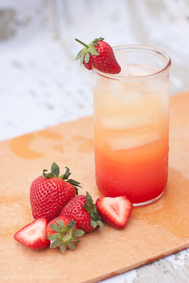 Non-Alchoholic Summer Spritzer | Use Orange Juice, Lemon-Lime Soda, and Grenadine | Design Eat Repeat