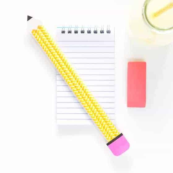 Paper Straw Pencil Pouches